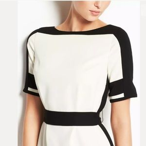 Ann Taylor Size White Belted Colorblock Dress